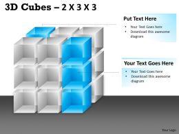 3D Cubes 2x3x3 PPT 87