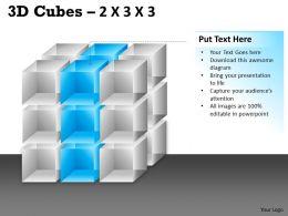 3D Cubes 2x3x3 PPT 92