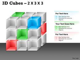 3D Cubes 2x3x3 PPT 96