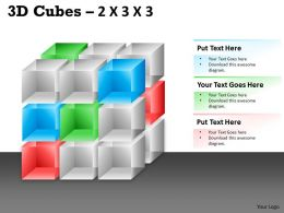 3D Cubes 2x3x3 PPT 97