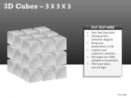 3d Cubes 3x3x3 Powerpoint Presentation Slides
