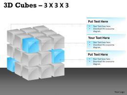 3D Cubes 3x3x3 PPT 100