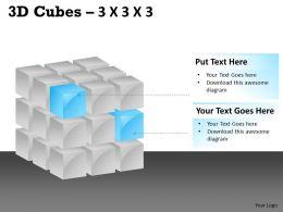 3D Cubes 3x3x3 PPT 102