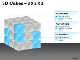 3D Cubes 3x3x3 PPT 103