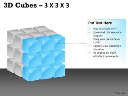 3D Cubes 3x3x3 PPT 105