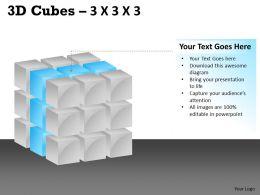 3D Cubes 3x3x3 PPT 106