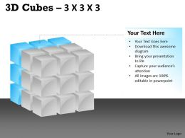 3D Cubes 3x3x3 PPT 107