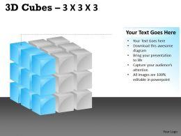 3D Cubes 3x3x3 PPT 108