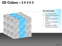 3D Cubes 3x3x3 PPT 109