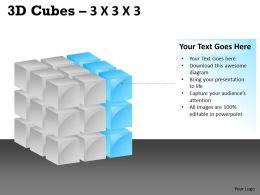 3D Cubes 3x3x3 PPT 110
