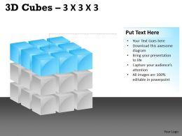 3D Cubes 3x3x3 PPT 111