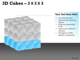 3D Cubes 3x3x3 PPT 113