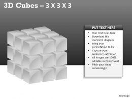 3D Cubes 3x3x3 PPT 98