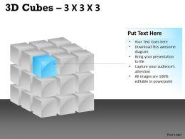 3D Cubes 3x3x3 PPT 99