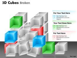 3D Cubes Broken Style 1 PPT 115