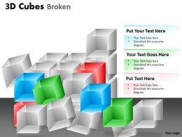 3D Cubes Broken Style 1 PPT 116