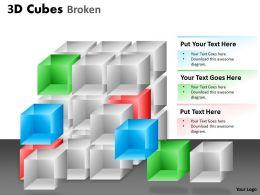 3D Cubes Broken Style 1 PPT 117