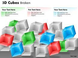 3D Cubes Broken Style 1 PPT 118