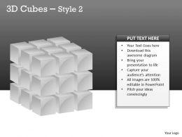 3D Cubes Broken Style 2 PPT 119
