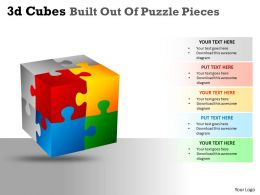 3D Cubes Built Out Of Puzzle Pieces PPT 129