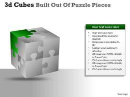 3D Cubes Built Out Of Puzzle Pieces PPT 135