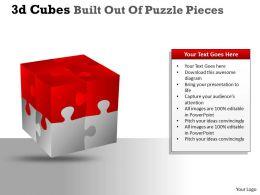 3D Cubes Built Out Of Puzzle Pieces PPT 19