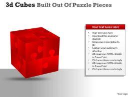 3D Cubes Built Out Of Puzzle Pieces PPT 26