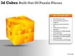 3D Cubes Built Out Of Puzzle Pieces PPT 28