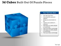3D Cubes Built Out Of Puzzle Pieces PPT 29