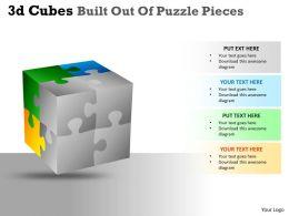 3D Cubes Built Out Of Puzzle Pieces PPT 40