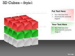 3D Cubes colorful Style 8