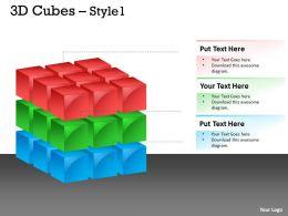 3D Cubes daigram 9