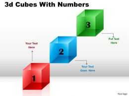 3d Cubes For Linear Process 5