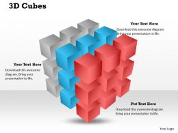 3D Cubes Powerpoint Template Slide