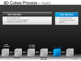 3D Cubes Process 2 Powerpoint Presentation Slides DB
