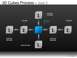 3D Cubes Process 3 Powerpoint Presentation Slides DB