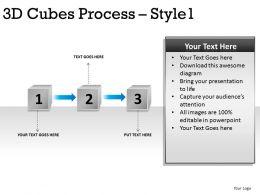 3D Cubes Process Style 1 6