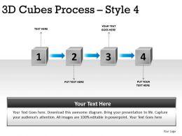3D Cubes Process Style 4 PPT 1