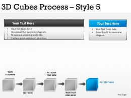 3D Cubes Process Style 5 PPT 1