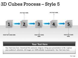 3D Cubes Process Style 5 PPT 2