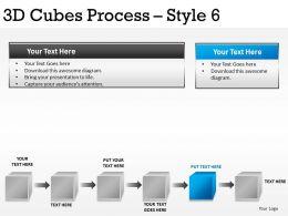 3D Cubes Process Style 6 PPT 1