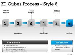 3D Cubes Process Style 6 PPT 2