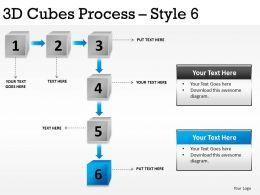 3D Cubes Process Style 6 PPT 3