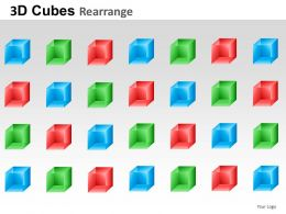 3D Cubes Rearrange Powerpoint Presentation Slides
