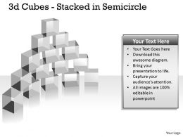 3d Cubes Stacked in Semicircle PPT 143