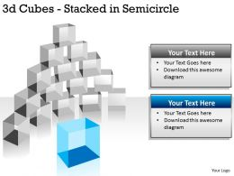 3d Cubes Stacked in Semicircle PPT 144