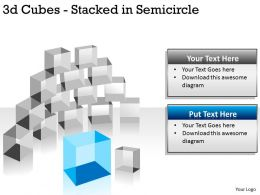 3d Cubes Stacked in Semicircle PPT 145