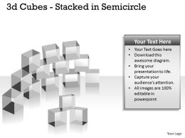 3d Cubes Stacked in Semicircle PPT 146