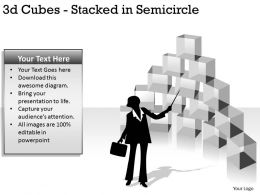 3d Cubes Stacked in Semicircle PPT 147