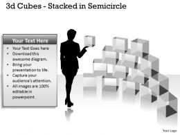 3d Cubes Stacked in Semicircle PPT 148